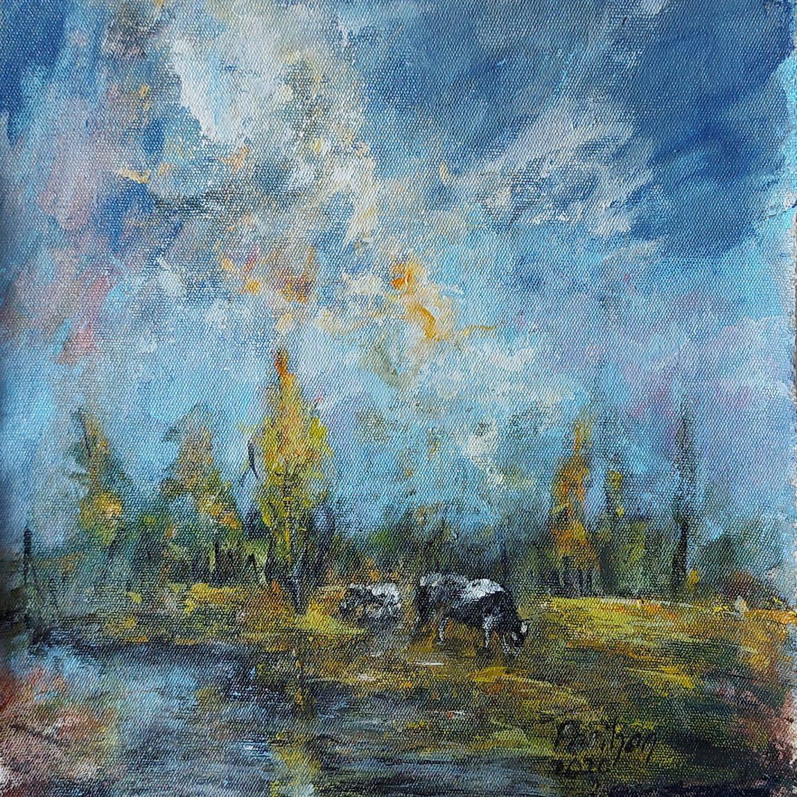 Sanatçı : Perihan Ata - Teknik: K.Ü. Akrilik- Ölçü:32 x 32 cm -  Fiyat : 1.770 TL