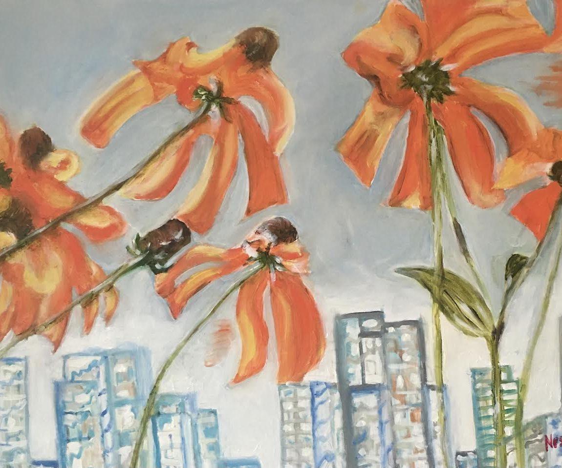 Sanatçı : Neslihan Üstünler  - Teknik: T.Ü.Yağlı Boya- Ölçü: 50 x 70 cm