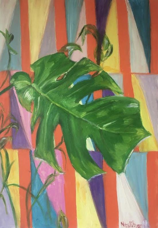 Sanatçı : Neslihan Üstünler  - Teknik: T.Ü.Yağlı Boya- Ölçü: 35 x 50 cm