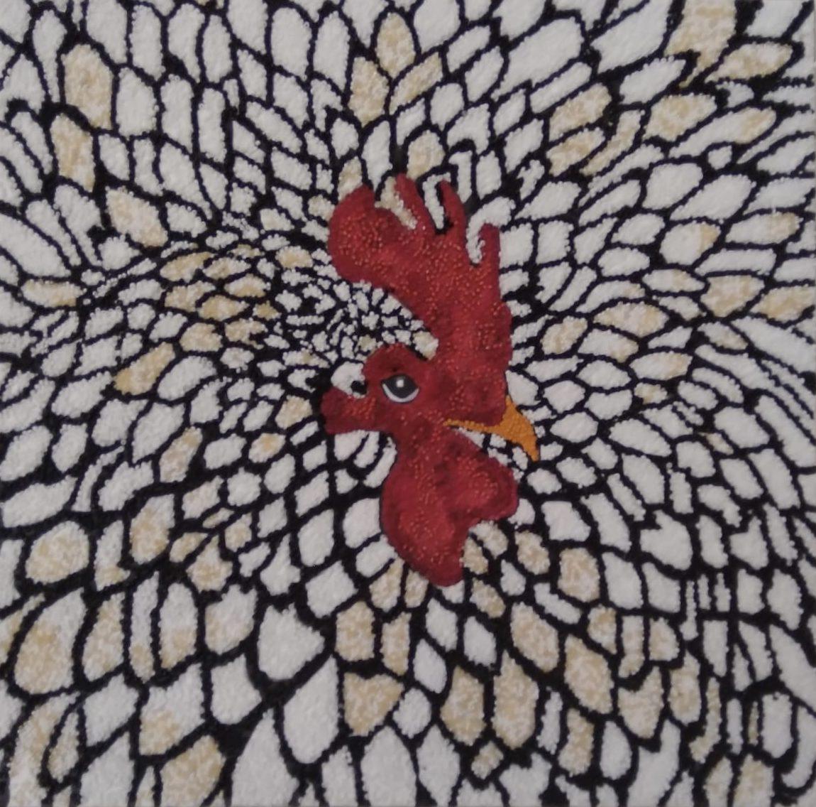 Sanatçı : Yıldız Evranoz- Teknik: Akrilik Üzeri Boncuk- Ölçü: 40 x 40 cm -  Fiyat : 5.900 TL