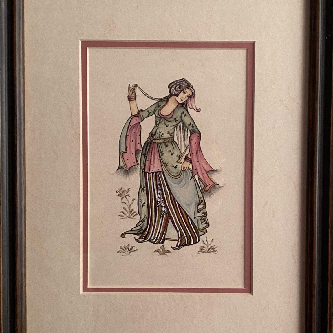 Sanatçı : Linda Kumdagezer   - Eser Adı: Levni- Teknik: Minyatür - Ölçü: 30 x 25 cm - Fiyat : 1.416 TL