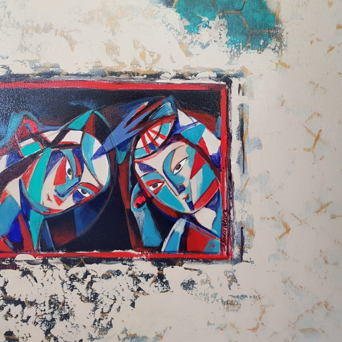 Sanatçı : Nerkiz Akçura  - Eser Adı: Beklerken- Teknik: T.Ü. Akrilik - Ölçü: 70 x 100 cm - Fiyat : 7.080 TL