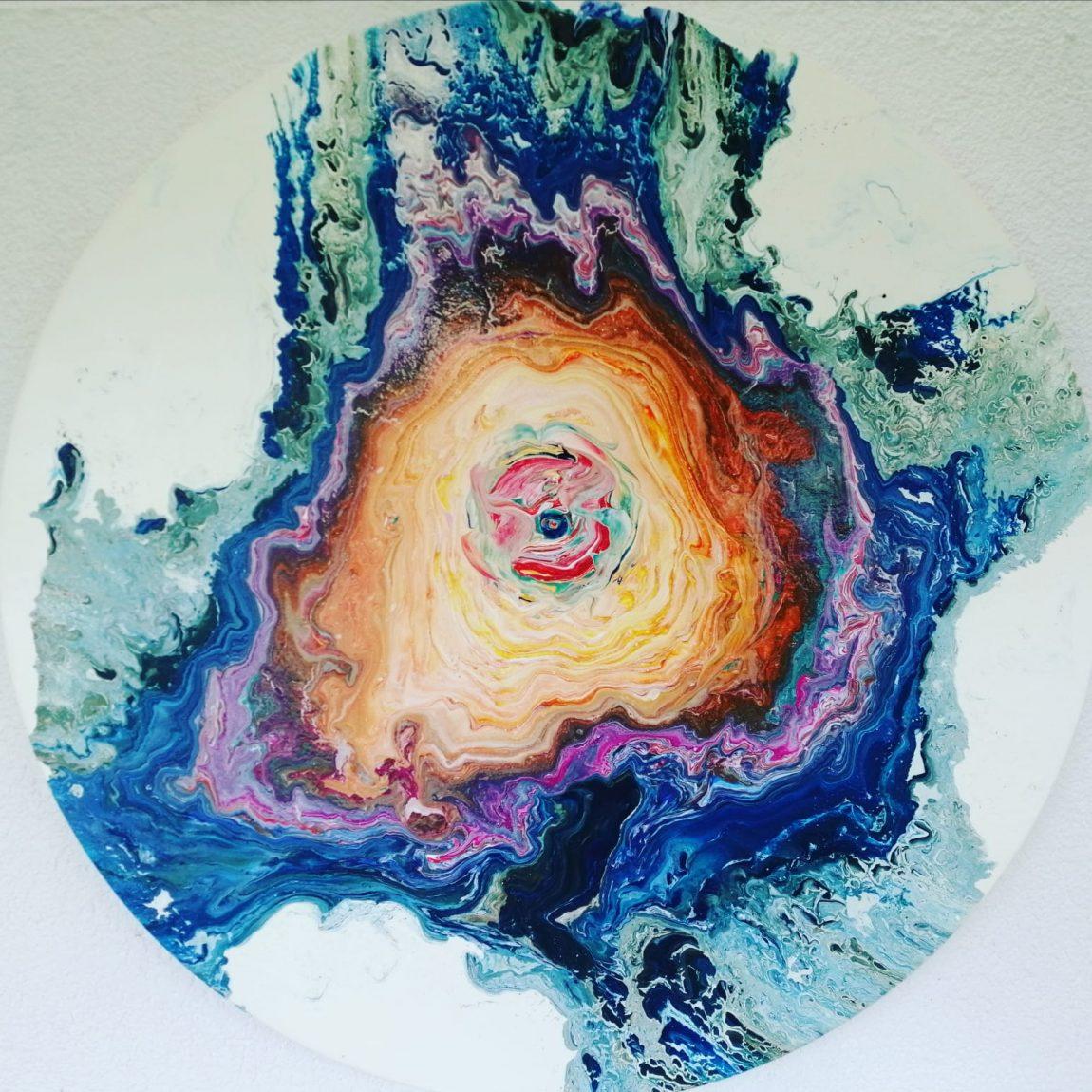 Sanatçı : Ayhan Bozdemir- - Eser Adı: Nazar-  Teknik: Akrilik - Ölçü: çap: 80 cm  - Fiyat : 2.655 TL