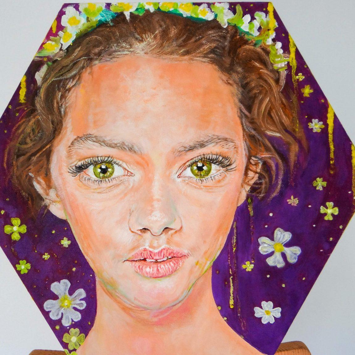 Sanatçı : İpek Chi   - Eser Adı: Spring Bliss Teknik: Tuval Ü.Yağlı Boya Teknik- Ölçü: 40 x 35 cm - Fiyat : 1.000 TL