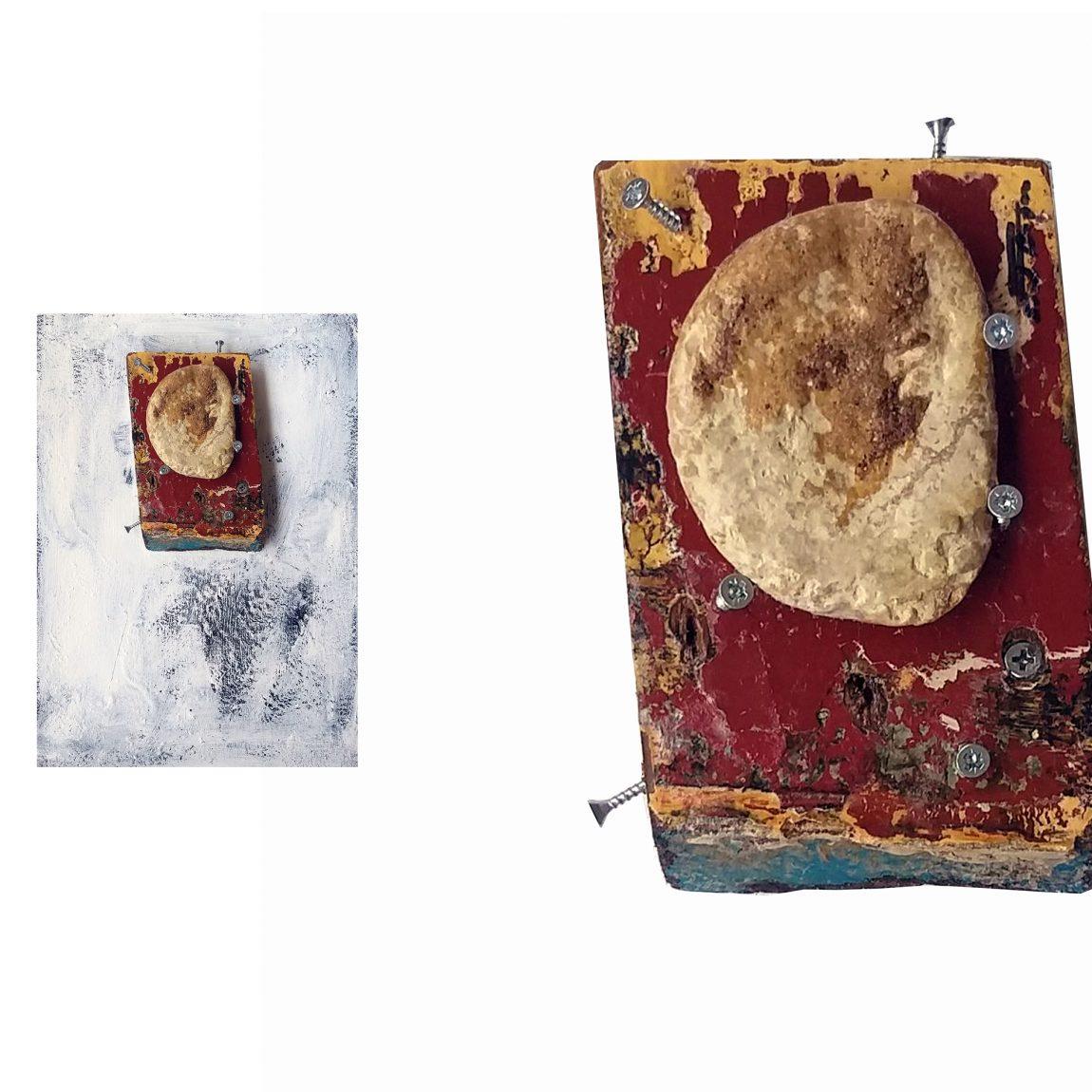 Sanatçı: Burak Boyraz Eser Adı: Yalnız Teknik: Karışık Malzeme Ölçü: 35 x 25 cm