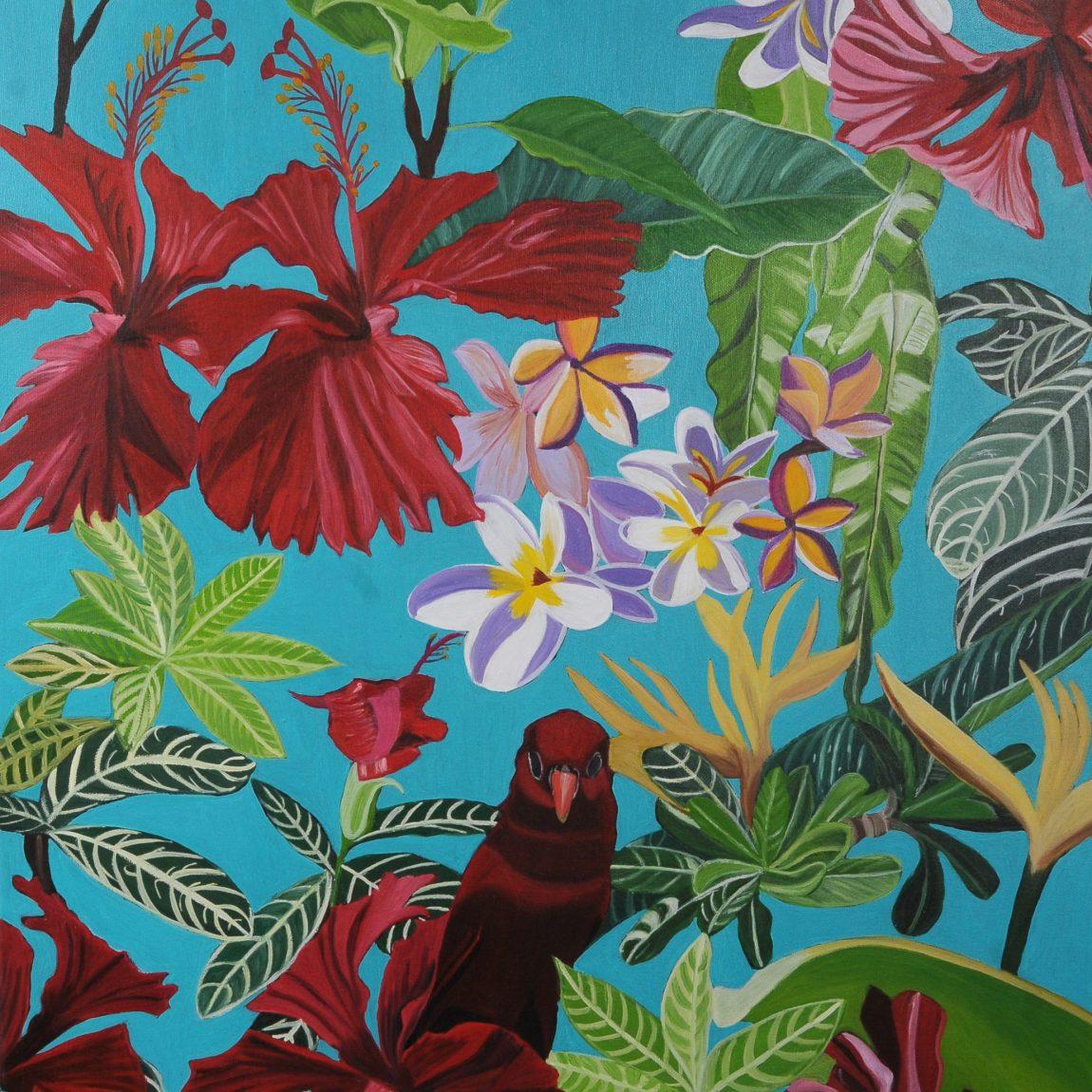 Dagmar Göğdün - Eser Adı:  Cennetdeki Kuş Ölçü:  75 x 55 cm Teknik: Tuval Üzeri Yağlı Boya Fiyat: 3.600 TL
