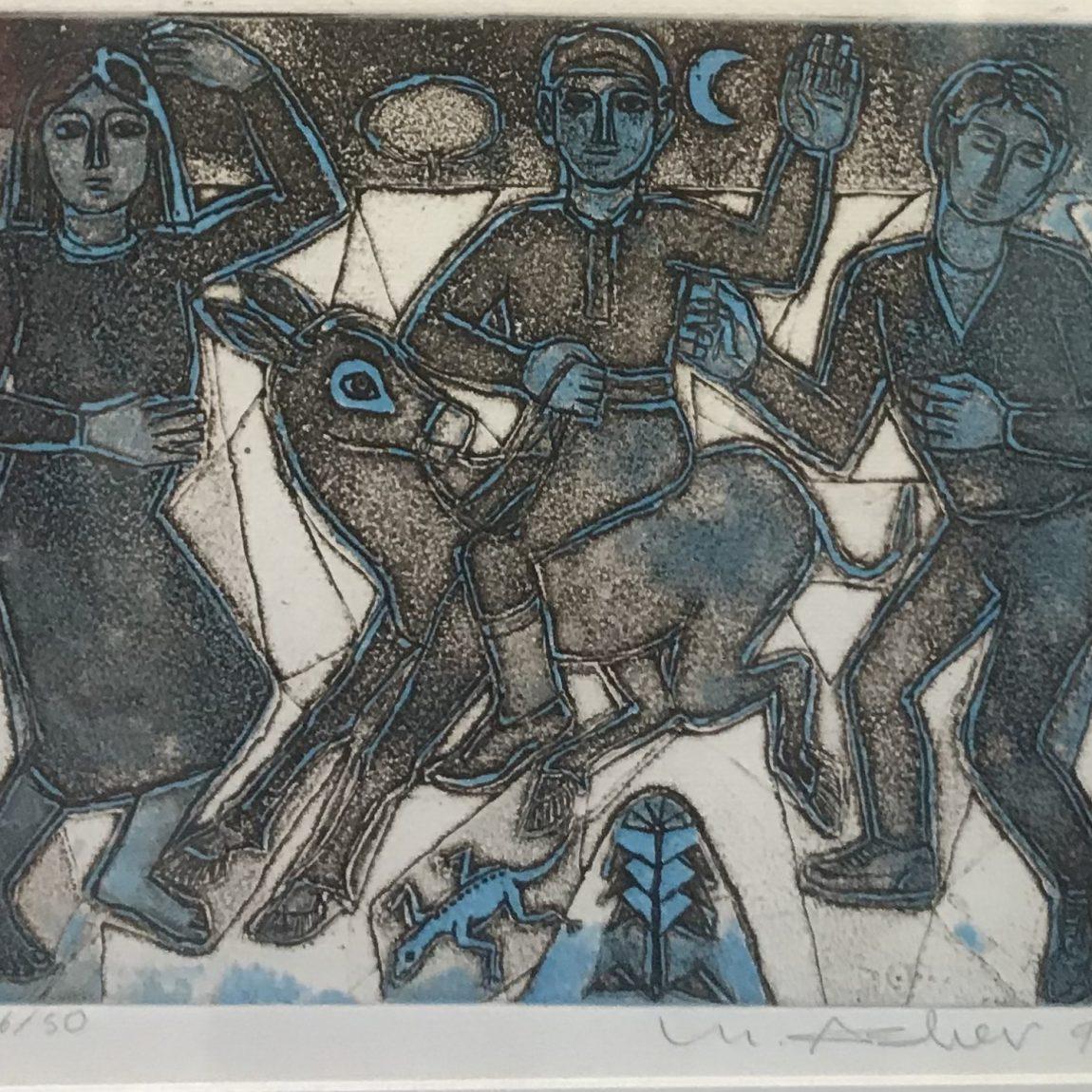 Mustafa Aslıer - Teknik: Baskı - Ölçü : 27 x 23 cm Fiyat : 5.000 TL